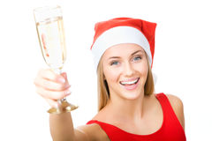 Christmas woman beautiful smiling Royalty Free Stock Photography