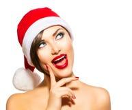 Christmas Woman Stock Images