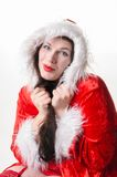 Christmas woman with collar Royalty Free Stock Photo