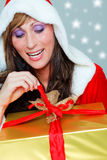 Christmas woman gift Royalty Free Stock Photo