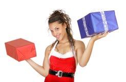 Christmas woman gift Royalty Free Stock Photo