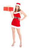 Christmas woman gift Stock Image