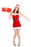 Christmas woman gift Stock Photo