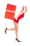 Christmas woman gift Royalty Free Stock Photos