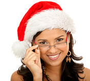 Christmas woman isolated Royalty Free Stock Photo