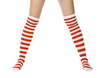Christmas woman legs Royalty Free Stock Image