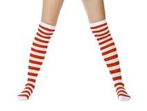 Christmas woman legs royalty free stock image