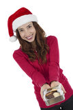 Christmas woman offering christmas cookies Royalty Free Stock Photo
