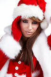 Christmas Woman over white Royalty Free Stock Photo