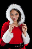 Christmas woman posing Stock Photos