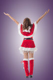 Christmas woman relax Royalty Free Stock Image
