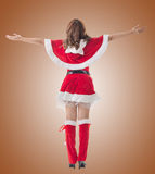 Christmas woman relax Stock Photography