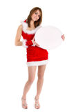 Christmas woman seller Royalty Free Stock Photos