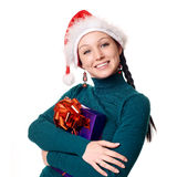 Christmas woman smiling Royalty Free Stock Photos