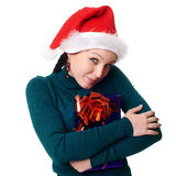 Christmas woman smiling Stock Image