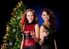 Christmas women Stock Photography