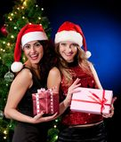 Christmas women Royalty Free Stock Photo
