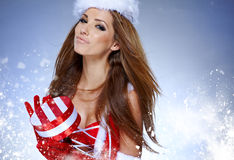 Christmas women with gifts Stock Photo
