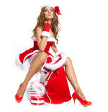 Christmas women with gifts Stock Photography