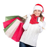 Christmas women Royalty Free Stock Images