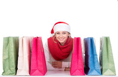 Christmas women Royalty Free Stock Image