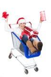 Christmas women Stock Image
