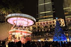 Christmas fair in Tsim Sha Tsui Royalty Free Stock Image