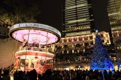 Christmas fair in Tsim Sha Tsui Royalty Free Stock Image