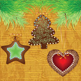 Christmas wood background Royalty Free Stock Images