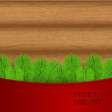 Christmas wood background Royalty Free Stock Photos