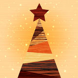 Christmas Wood tree Background Stock Images
