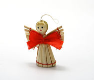 Christmas wooden angel. Christmas decoration  - wooden angel alone Stock Images