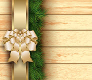 Christmas wooden background Royalty Free Stock Photos