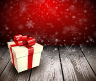 Christmas wooden background Stock Images