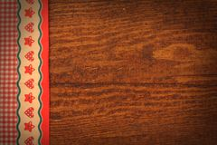 Christmas wooden background. With ornaments Royalty Free Stock Image