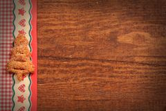 Christmas wooden background. With tree Stock Image