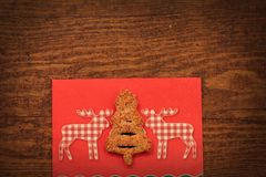 Christmas wooden background. With tree Stock Photo