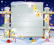 Christmas wooden banner Stock Photos