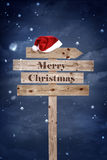 Christmas wooden board Stock Image