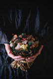 Christmas wooden bouquet Royalty Free Stock Photography