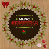 Christmas wooden cut out border Stock Image