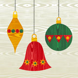 Christmas wooden decorations Stock Images