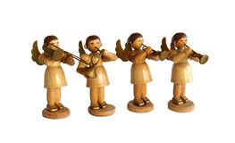 Statuettes Angels musicians Royalty Free Stock Images