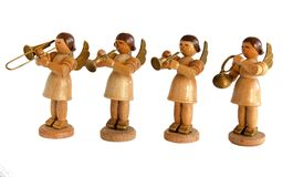 Statuettes Angels musicians Stock Images