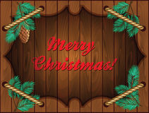Christmas wooden frame Stock Images