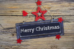 Christmas Wooden Heart Star Royalty Free Stock Photography