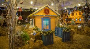 Christmas wooden house Stock Image