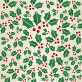 Christmas wooden mistletoe shape pattern Royalty Free Stock Photo