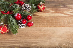 Christmas wooden plank stock photography