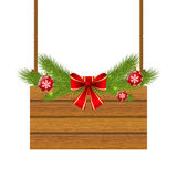 Christmas wooden plate Royalty Free Stock Photos